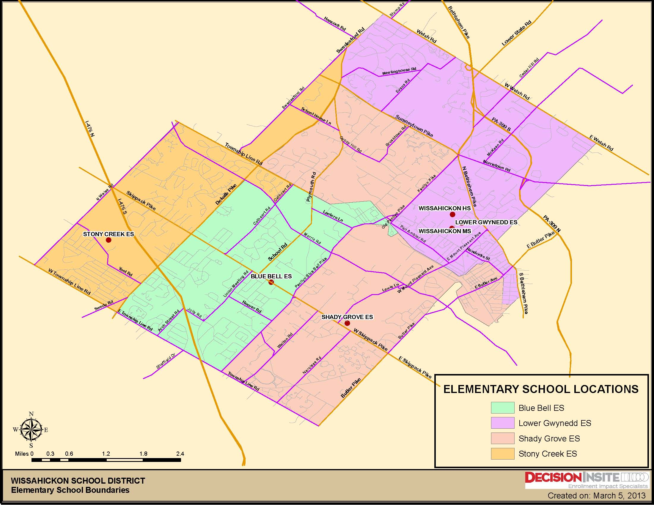 Norristown Pa Zip Code Map.Attendance Map Wissahickon School District